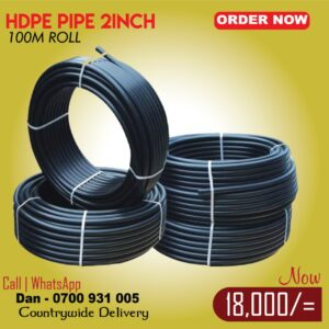 HDPE water pipe 2inch 100m roll