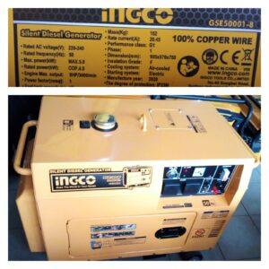 Ingco Silent Diesel Generator 6.5kva
