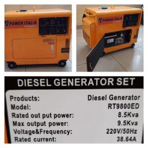 Power Italia diesel Silent generator 9.5kva